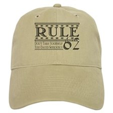 Rule 62 Alcoholism Saying Baseball Baseball Cap