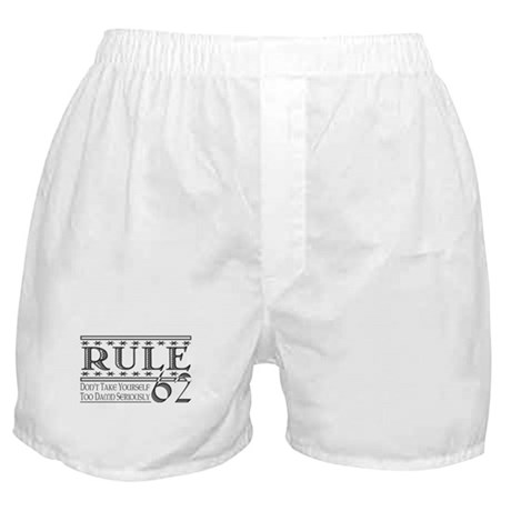 Rule 62 Alcoholism Saying Boxer Shorts