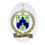 BOURGEOIS Family Crest Oval Ornament