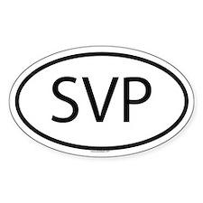 SVP Oval Decal
