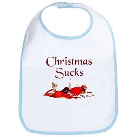 Christmas Sucks Bib