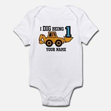I Dig Being 1 Personalized Infant Bodysuit