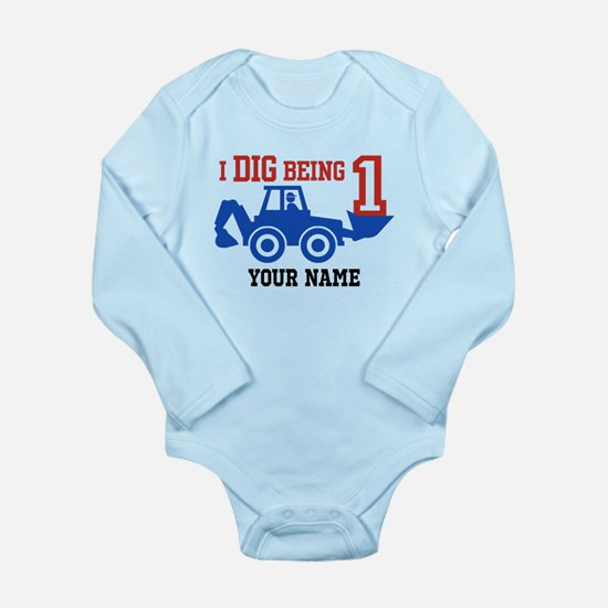 I Dig Being 1 Personal Long Sleeve Infant Bodysuit