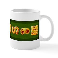 Fiery Maya Jaguar Hieroglyphs Mug