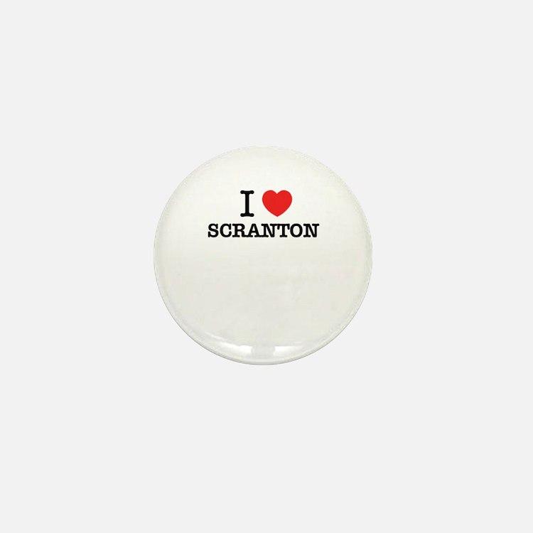 I Love SCRANTON Mini Button