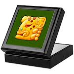 Fiery Maya Jaguar Head Keepsake Box