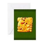 Fiery Maya Jaguar Head Greeting Cards (Pk of 10)