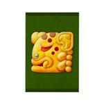 Fiery Maya Jaguar Head Rectangle Magnet (100 pack)