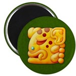 "Fiery Maya Jaguar Head 2.25"" Magnet (100 pack)"