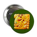 """Fiery Maya Jaguar Head 2.25"""" Button"""