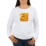 Fiery Maya Jaguar Head Women's Long Sleeve T-Shirt