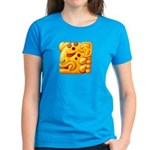 Fiery Maya Jaguar Head Women's Dark T-Shirt