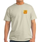 Fiery Maya Jaguar Head Light T-Shirt