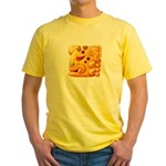 Fiery Maya Jaguar Head Yellow T-Shirt