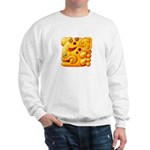Fiery Maya Jaguar Head Sweatshirt