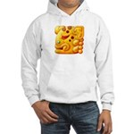 Fiery Maya Jaguar Head Hooded Sweatshirt