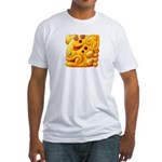 Fiery Maya Jaguar Head Fitted T-Shirt