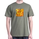 Fiery Maya Jaguar Head Dark T-Shirt