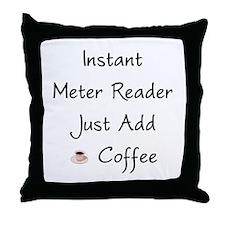 Meter Reader Throw Pillow