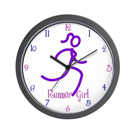 RunnerGirl Wall Clock
