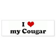 I Love my Cougar Bumper Bumper Sticker