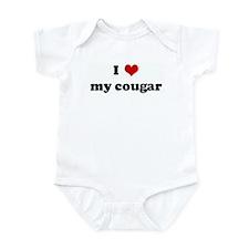 I Love my cougar Infant Bodysuit