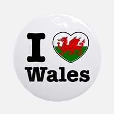 I love Wales Ornament (Round)