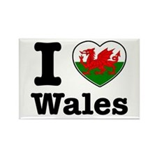 I love Wales Rectangle Magnet (10 pack)