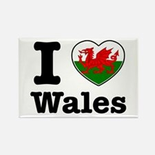 I love Wales Rectangle Magnet (100 pack)