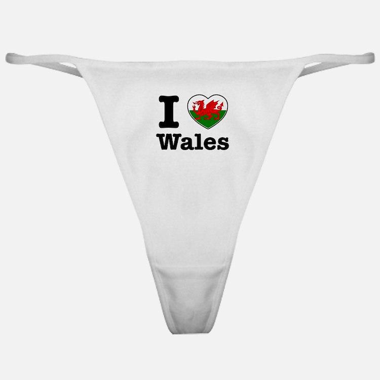 I love Wales Classic Thong