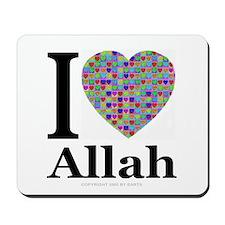 I (Heart) Allah Mousepad