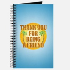 Thank You for Being a Friend Journal