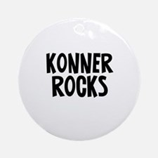 Konner Rocks Ornament (Round)