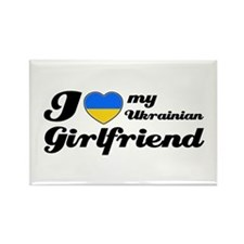 I love my Ukrainian girlfriend Rectangle Magnet (1