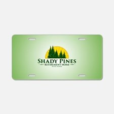 Shady Pines Logo Aluminum License Plate