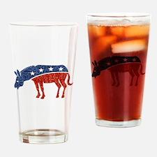 glitter democrat donkey Drinking Glass