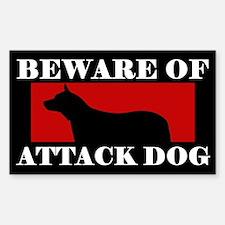 Beware of Attack Dog Australian Cattle Dog Decal