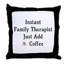 Family Therapist Throw Pillow