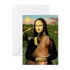 Mona / Briard Greeting Cards (Pk of 10)