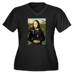 Mona / Briard Women's Plus Size V-Neck Dark T-Shir