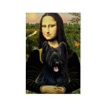 Mona / Briard Rectangle Magnet (10 pack)