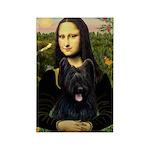 Mona / Briard Rectangle Magnet