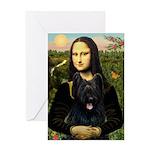 Mona / Briard Greeting Card