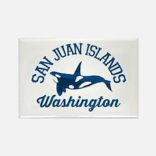 San Juan Islands. Rectangle Magnet Magnets