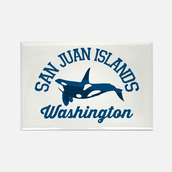 San Juan Islands. Rectangle Magnet Magnets