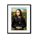 Mona / Briard Framed Panel Print