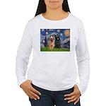Starry - 2 Briards Women's Long Sleeve T-Shirt