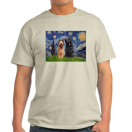Starry - 2 Briards Light T-Shirt