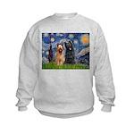 Starry - 2 Briards Kids Sweatshirt