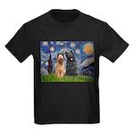 Starry - 2 Briards Kids Dark T-Shirt